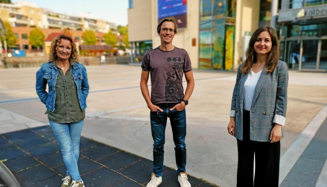 FINALISTENE: Finalistene til Nordre Follo- sangen er klare. Torild Brandtzæg Andersen (t.v.), Trond Kjelsås og Stefi Martine Ringen skal synge i Kolben lørdag.