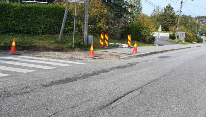 LAPPETEPPE: Veien har vært et lappeteppe i mange år. Foto: Yana Stubberudlien