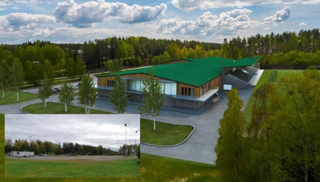 SLIK KAN DET SE UT i 2022: Slik vil det se ut på Sofiemyr kunstgress når det nye anlegget står ferdig.