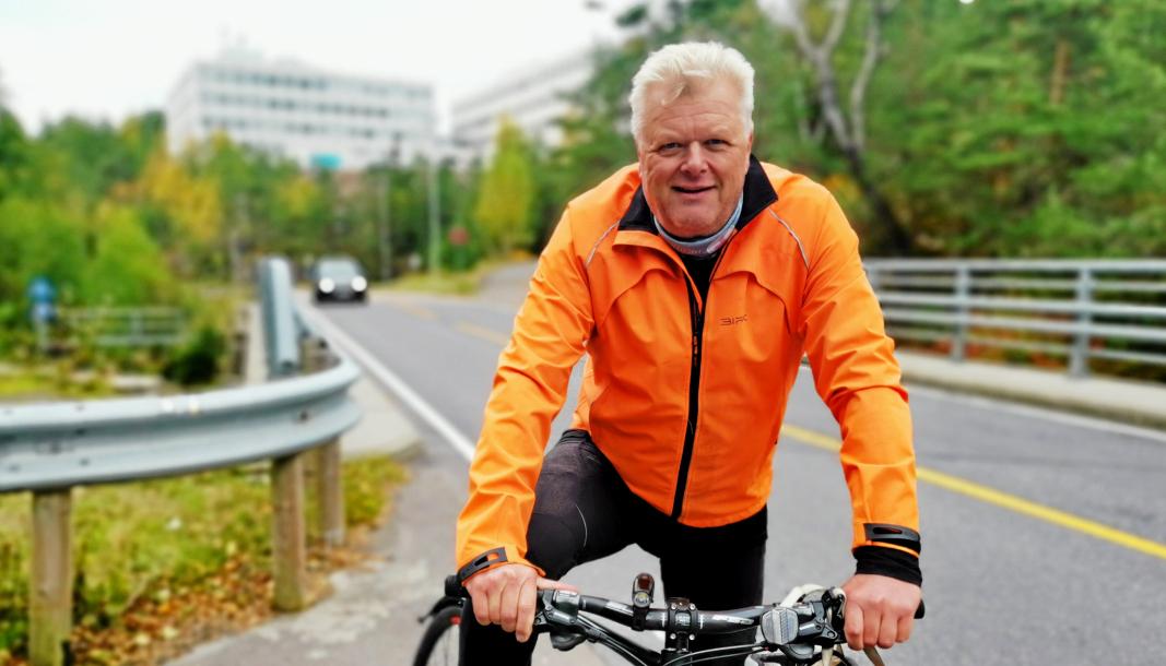 STØTTER 60-SONE: Kjell Solem fra Kolbotn er pressesjef i Statens vegvesen, og aktiv syklist.