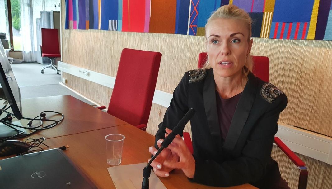 SVARER PÅ SPØRSMÅL FRA VÅRE LESERE: Kommuneoverlege Kerstin Anine Johnsen Myhrvold har svart på spørsmål fra våre lesere. Foto: Yana Stubberudlien