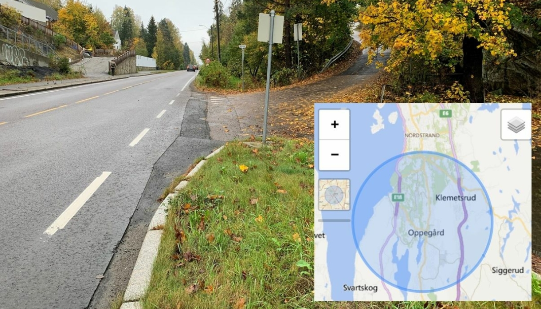 """NATURLIG NÆRMILJØ? Nordre Follo kommune ser ut til å mene at dette området er """"naturlig nærmiljø"""" for Kolbotn skole. Foto: Mari W. Andersen"""