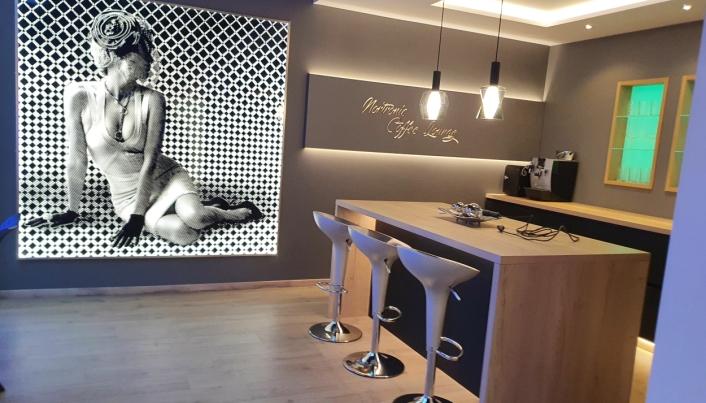 SHOWROOM: Her kan du se et utstillingshjørnet i showroomet.