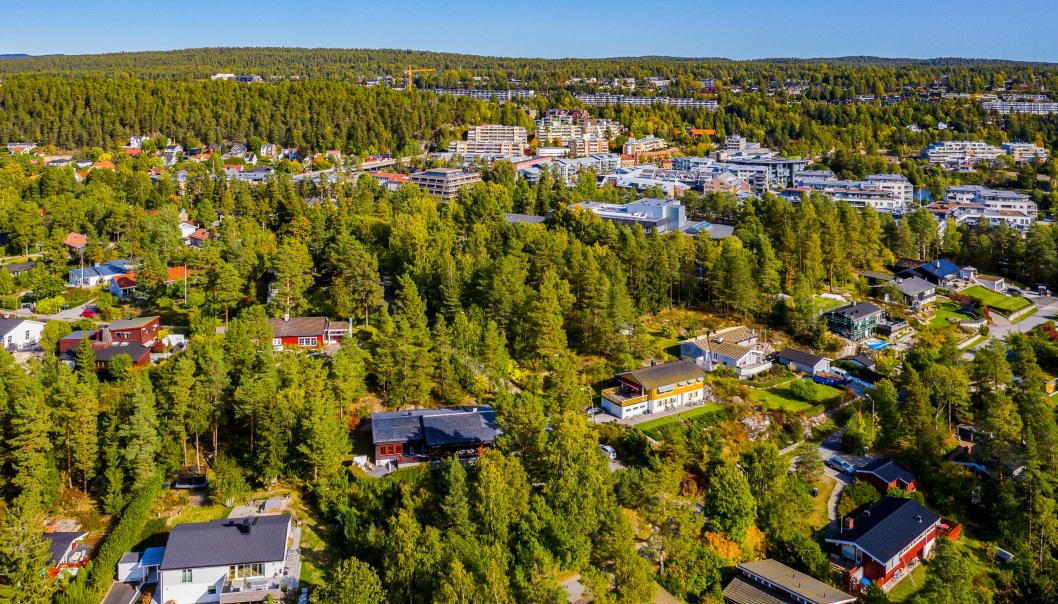 KORT VEI: Rekordboligen ligger like i nærheten av Ingieråsen skole, og det tar ikke mange minuttene å rusle inn til Kolbotn sentrum.
