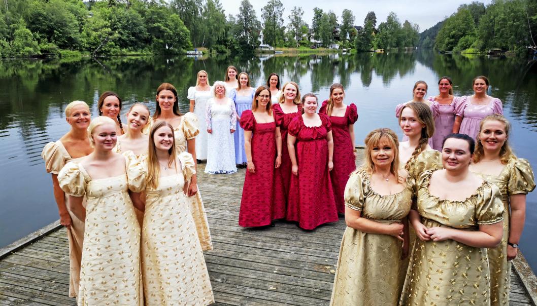 HØY KVALITET: Tryllefløytene består av svært dyktige sangere, flere av dem med utdannelse innen musikk og teater. Dette bildet ble tatt før fjorårets forestilling i Kolben.