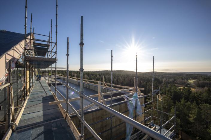 ROOF TOP RESTAURANT: Sjekk utsikten fra toppetasjen hvor Roof Top Restaurant skal ligge. Foto: Kristian Gundersen