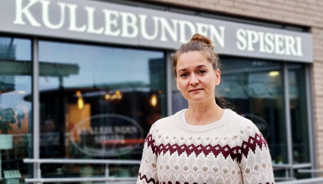SPENTE TIDER: Anette Kristin Embretsen er redd hele restauranten hennes skal gå over styr.