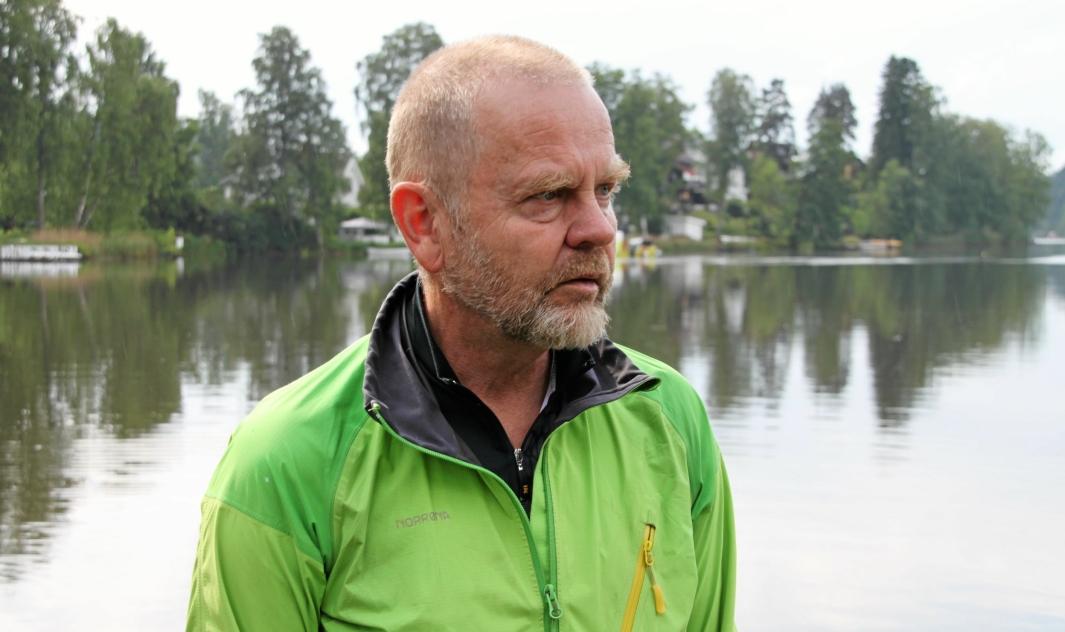 KJEMPER FOR KOLBOTNVANNET: Bjørn Gunnar Ganger er den nye lederen for Naturvernforbundet i Nordre Follo. Foto: Yana Stubberudlien