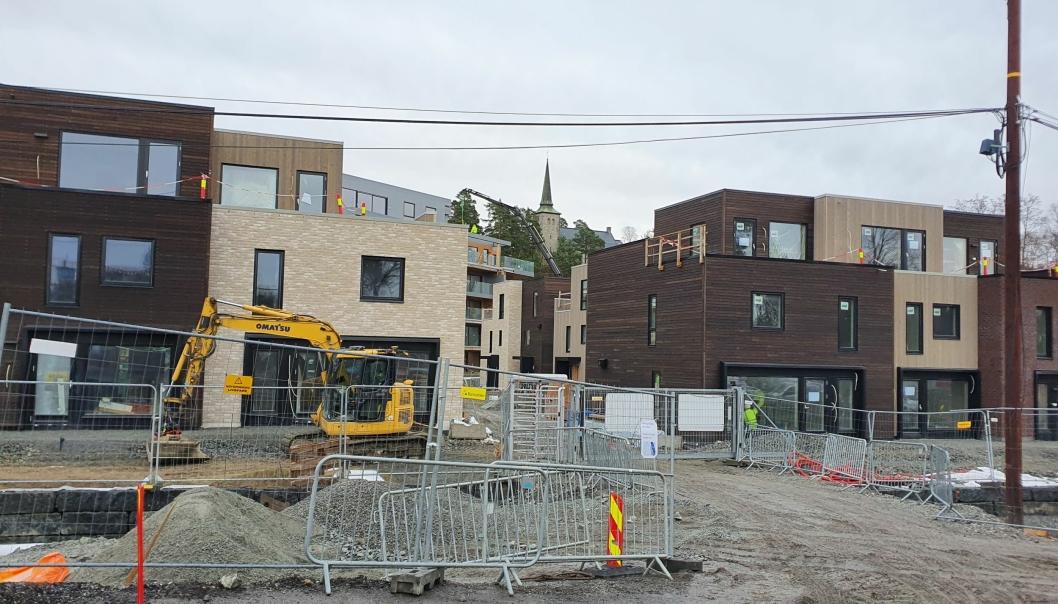 INGEN UTBYGGINGSAVTALE ENNÅ: Storebukta er snart ferdig utbygd, men utbyggingsavtalen er ikke tegnet ennå. Foto: Yana Stubberudlien