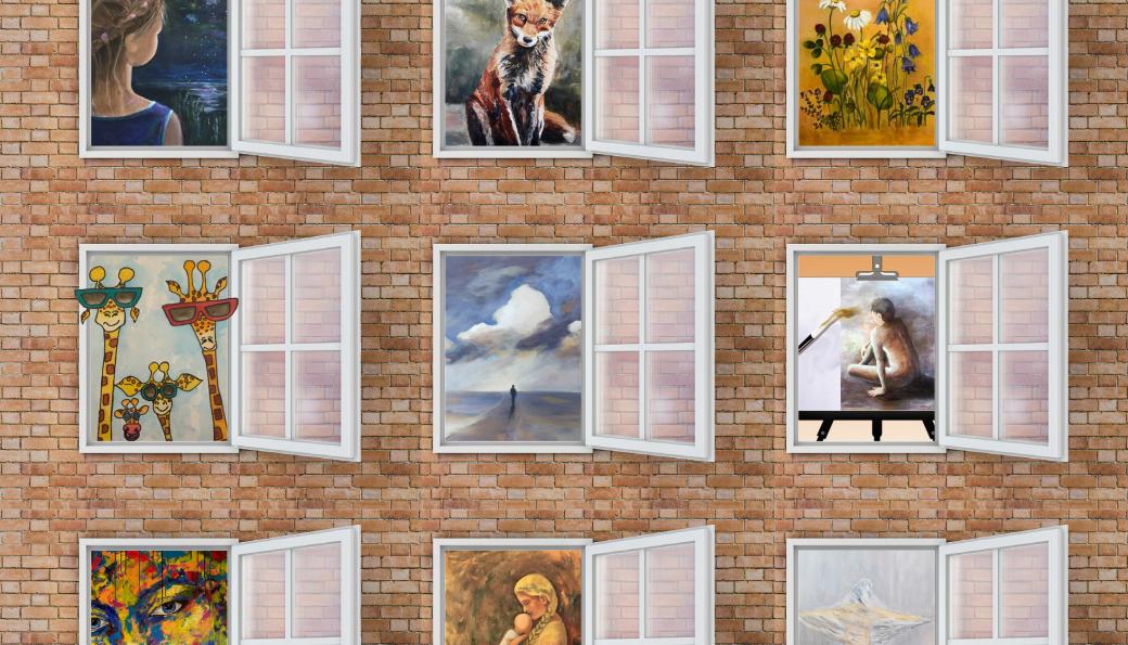NY UTSTILLING: Kreativiteten utfolder seg i medlemmenes hjem. Er du ute og går en tur og ser det lyse fra et vindu, skapes kanskje ditt favorittbilde nettopp her.