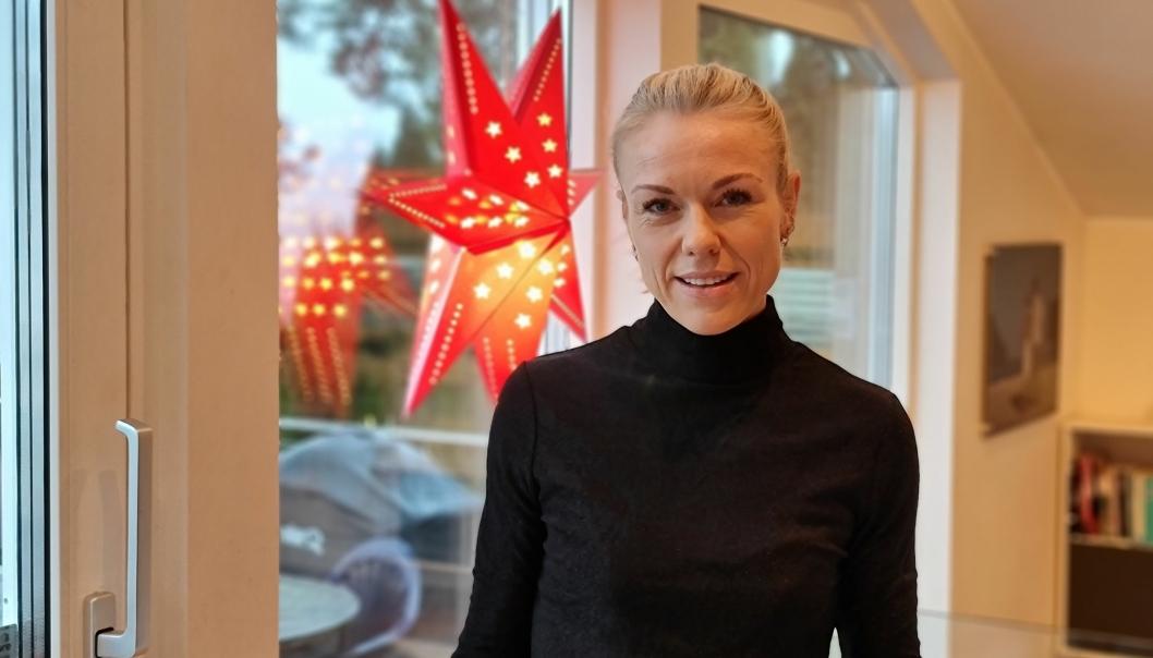 JULEFERIE: Etter et svært travelt korona-år ser Kerstin Anine Johnsen Myhrvold frem til juleferien med familien.