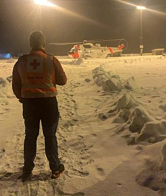 I AKSJON PÅ ASK: Herman Brustad fra Oppegård Røde Kors.