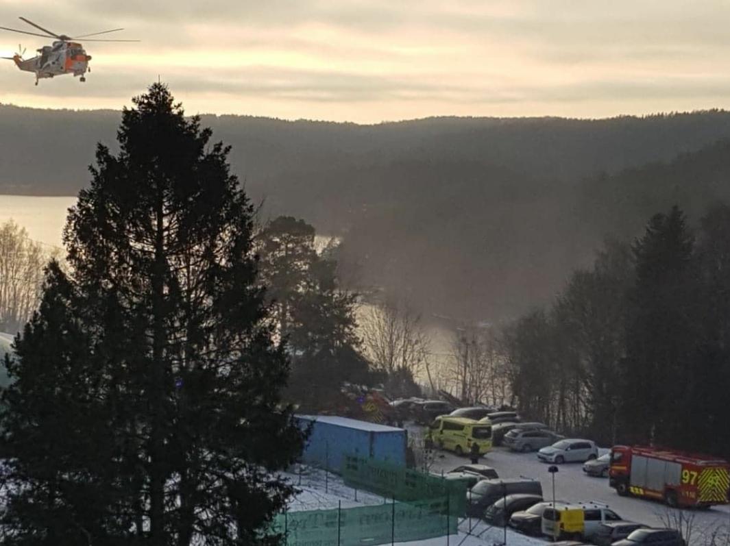 SKIULYKKE: Lørdag ettermiddag var det meldt om en skiulykke i Ingierkollen. Foto: Meliha Halilcevic
