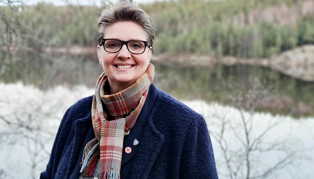 SVARER: Ordfører Hanne Opdan.