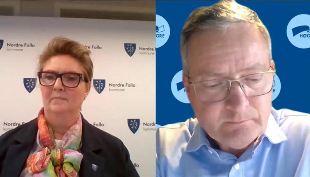 STILTE SPØRSMÅL: Ordfører Hanne Opdan skulle til å gå gjennom protokollen for kommunestyremøtet. Da ba Høyres Knut Oppegaard om ordet.