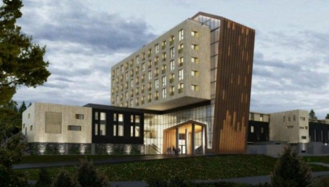 260 MILLIONER KRONER: Hotell-prosjektet gjennomføres i en samspillentreprise, og har en verdi på om lag 260 millioner kroner. Hotellet, som er tegnet av Halvorsen & Reine Arkitekter, skal åpnes i juni 2021.