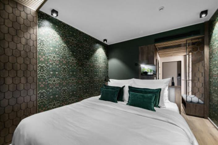 SOVEROM: The Well-hotellet skal være på åtte etasjer med totalt 104 rom og konferanseavdeling. Foto: The Well