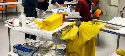 En stor andel av sykepleiere i Nordre Follo enten avventer eller sier nei vaksinering