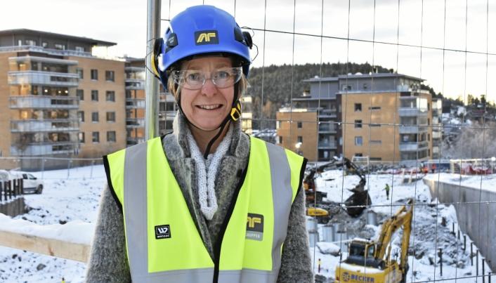 VIRKSOMHETSLEDER: Aud Val er viksomhetsleder for byggeprosjekter i Nordre Follo kommune.