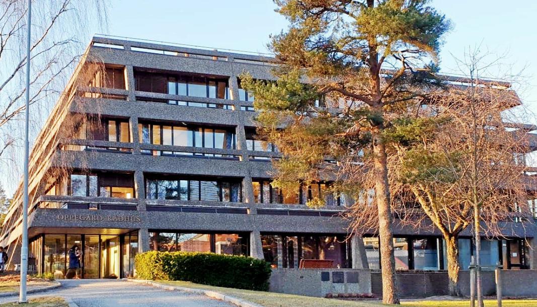 BLIR TESTSTASJON: Onsdag denne uken åpner den midlertidige teststasjonen her i Oppegård rådhus.