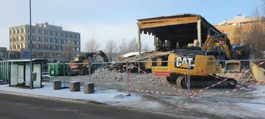 Velkjent bygning revet – nå starter byggingen av 110 leiligheter