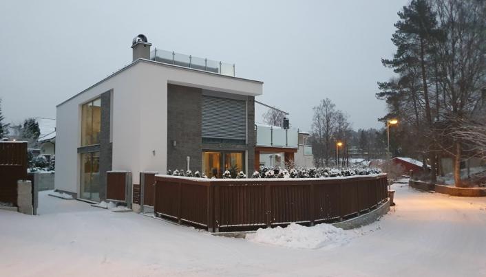 HAR BODD HER I SYV ÅR: Drømmehuset til familien Mehrizadeh stod ferdig i 2013.
