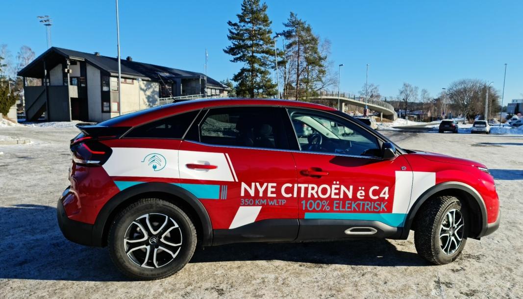 FREKK FRANSKMANN: Nye Citroën ë-C4 har fått strålende mottagelser etter at den ble lansert. Vi kjørte nyheten på kalde Oppegård-veier.
