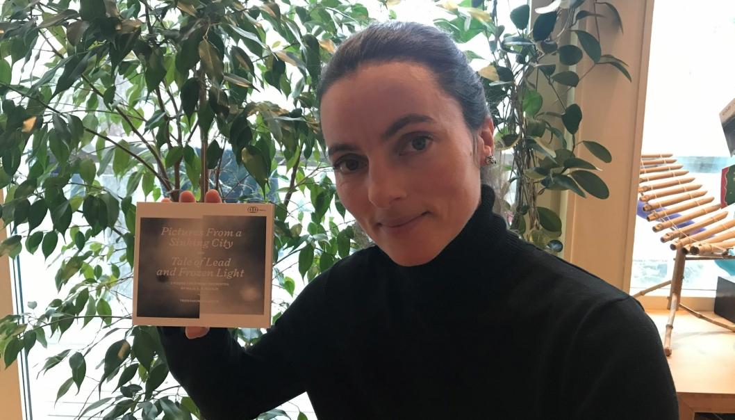 """NYTT ALBUM: Svartskog-komponisten Maja S. K. Ratkje er nominert for det nye albumet ved navnet «Maja S. K. Ratkje: Works for String Orchestra"""", som ble spilt inn av TrondheimSolistene i """"koronatiden». Fotograf: Marte Haltli"""