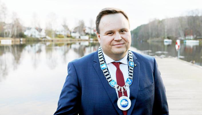 VAR I POSISJON: Ordfører i tidligere Oppegård, Thomas Sjøvold (H). Foto: Oppegård kommune