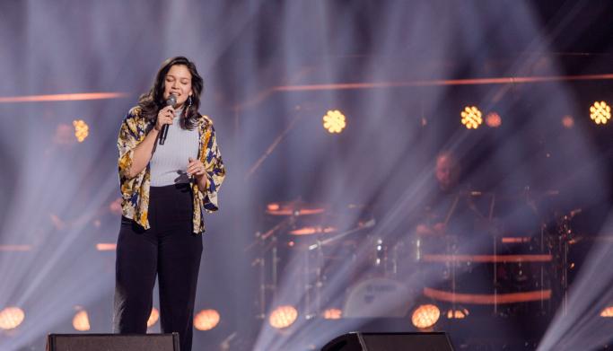"""SANG CASSIDY: Med Eva Cassidys versjon av """"Wade in the Water"""" imponerte Sarah Bøhn på The Voice fredag 12. februar."""