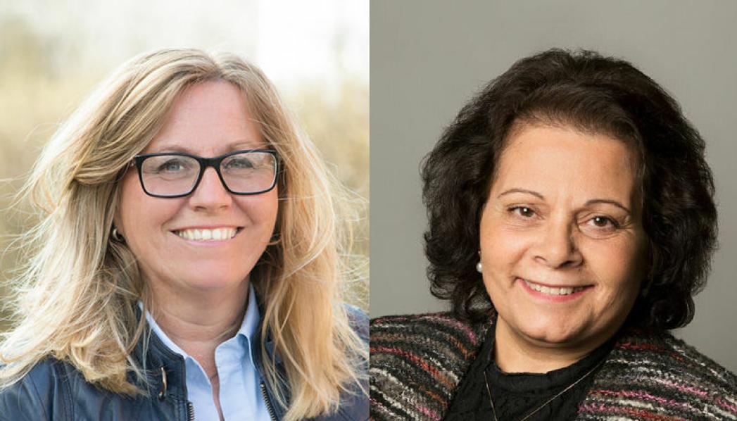 SKREV INNLEGGET: Stortingsrepresentant Anne Kristine Linnestad (H) og kommunestyrerepresentant for Nordre Follo Høyre, Daad Gjerde.