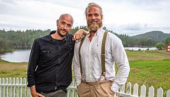 VENNER OG KONKURRENTER: Terje og medfinalist Lasse Matberg i Farmen Kjendis.