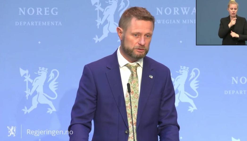 OPPLYSTE OM ENDRINGER I VAKSINESTRATEGIEN: Helse- og omsorgsminister Bent Høie.
