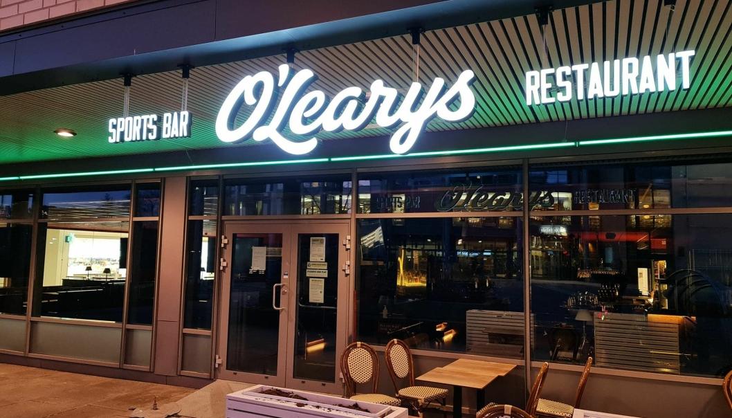 STENGT: Det har vært mørkt i lokalene til O'Learys siden romjulen. Torsdag ble restauranten slått konkurs.