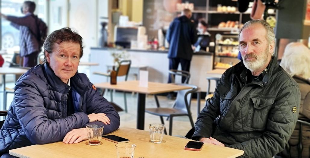 EIERNE: Geir Sjøvold (t.v.) fra Trollåsen og Tommy OIsen fra Oslo er to av eierne bak O'Learys på Kolbotn. Sist torsdag valgte de å melde oppbud for eierselskapet Stovner Restaurantdrift.
