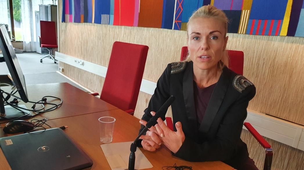 ANBEFALTE STRAMT GULT NIVÅ: Kommuneoverlege Kerstin Johnsen Myhrvold kom med nye anbefalinger og råd fredag forrige uke.