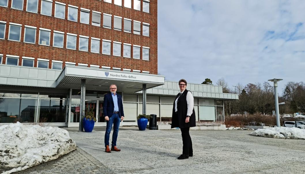 SKAL BLI BEDRE: – Vi er allerede i gang med arbeidet for å bedre dette, sier ordfører Hanne Opdan og kommunedirektør Øyvind Henriksen.