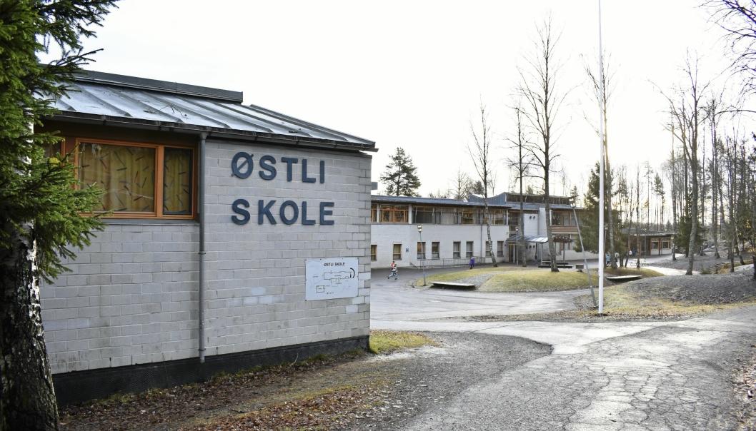 RØDT NIVÅ: Østli skole er en av skolene som er på rødt tiltaksnivå.