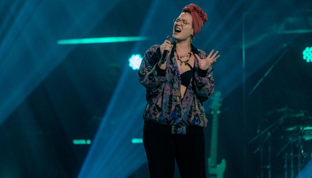 GA ALT: Sarah Bøhn fremførte en av de mest kjente låtene til walisiske Duffy sist fredag.