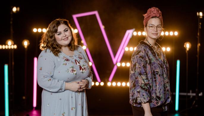 GIKK VIDERE: Sarah Bøhn sang mot Julie Stokke fra Trondheim i knockout-runden sist fredag. Til slut var det sangeren fra Kolbotn som gikk videre.