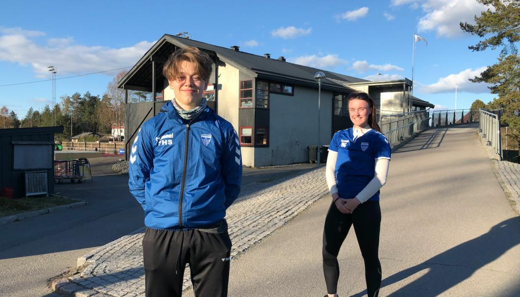 TRENERE: Maria Gjørven og Tjalve Stangeland. er to av de nye trenerne som er engasjert i Young Active.