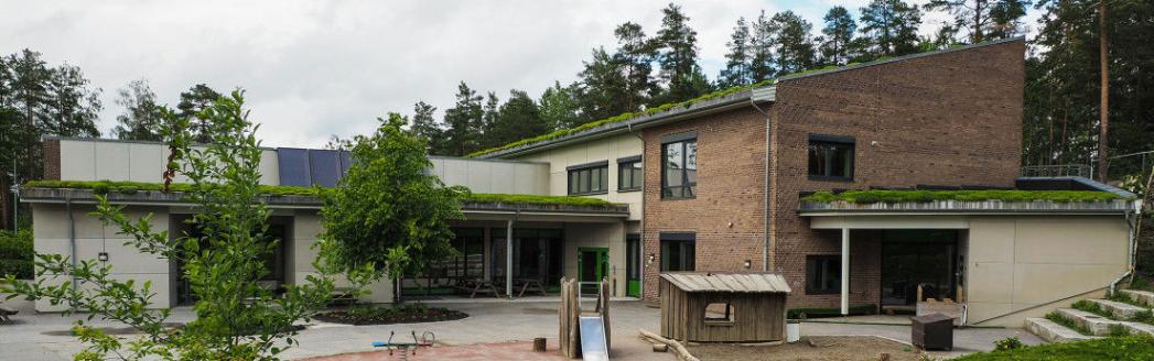 KOMMUNAL BARNEHAGE: Hareveien barnehage ligger på Tårnåsen. Foto: Nordre Follo kommune