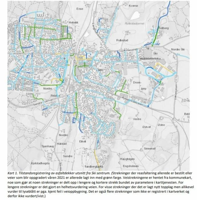 Kilde: Temaplan for kommunale veier for perioden 2021-2025 (vedtatt i mars 2021).
