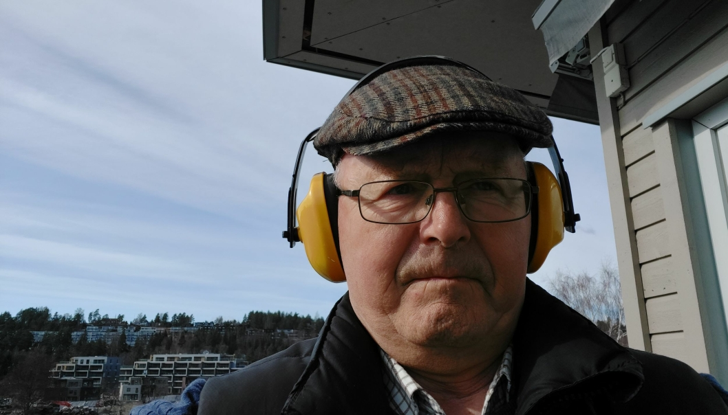 OPPTATT AV STØY: Gunnar Sveen, som har skrevet debattinnlegget, bor i Kolbotn sentrum og er opptatt av saker som handler om støy i boligstrøk. Foto: Privat