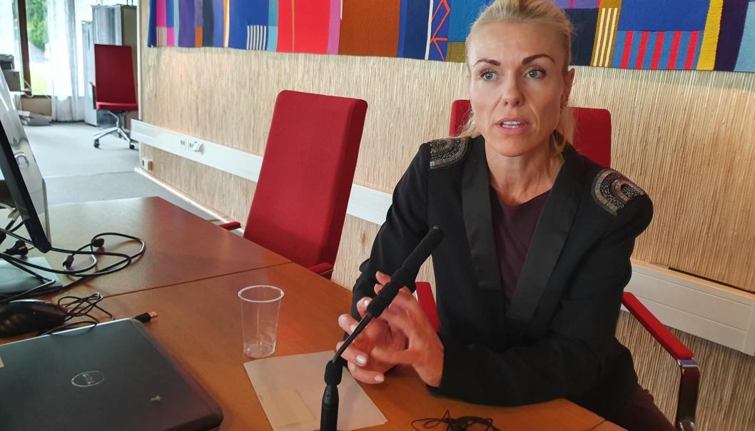 KOMMER MED STERK OPPFORDRING: Kommuneoverlege Kerstin Anine Johnsen Myhrvold oppfordrer derfor alle som blir pålagt karantene å gjennomføre denne etter beste evne. Foto: Yana Stubberudlien