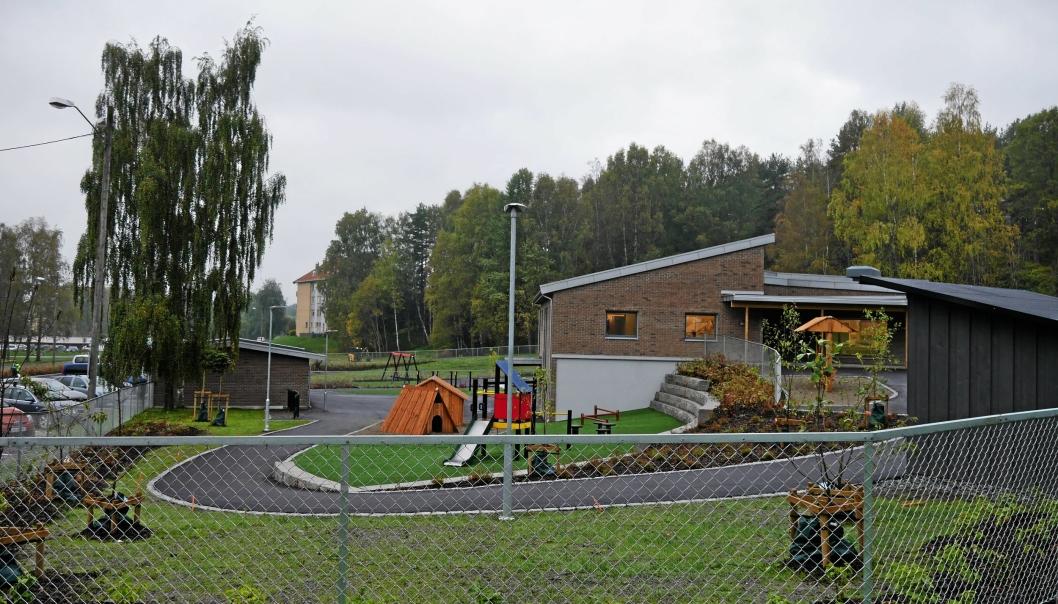 ØDEGÅRDEN BARNEHAGE: Hittil er det meldt inn fire smittede i tilknytning til Ødegården barnehage. Foto: Yana Stubberudlien