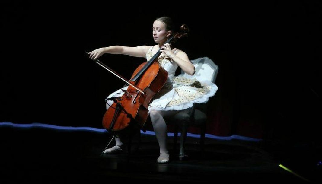 TALENT: Selma Edwards Granly er et av mange talenter i den lokale kulturskolen.