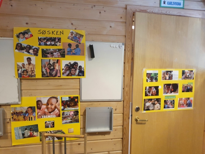 KUNNSKAP: Barna får mye informasjon om prosjektet i forkant av festen.