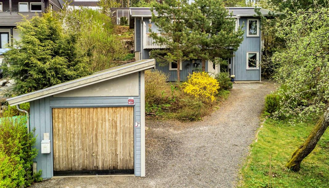 BUDFEST: To budgivere ville begge kjøpe. Da ble det en heftig budrunde på eiendommen i Skogkanten på Kolbotn.