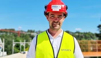 ANLEGGSLEDER: Brede Lunden er anleggsleder for det store byggeprosjektet like ved sentrum av Kolbotn.